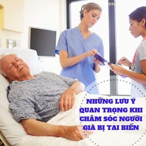 Hướng dẫn chăm sóc người già bị tai biến