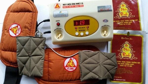 Máy massage xung điện hiệu ứng nhiệt vl