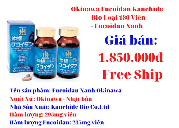Okinawa Fucoidan Kanehide Bio Loại 180 Viên