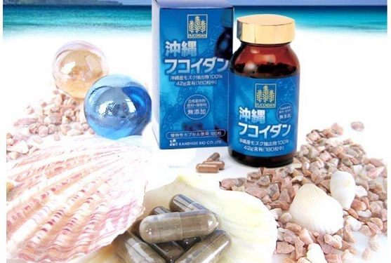 Okinawa Fucoidan Kanehide Bio Loại 180 Viên Fucoidan Xanh Nhật Bản